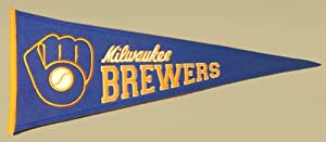 Milwaukee Brewers Cooperstown Collection Wool Blend MLB Baseball Pennant by Winning+Streak+Sports