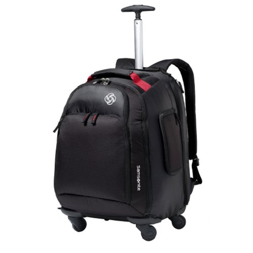 Samsonite Luggage Mvs Spinner Backpack, Black, 19 Inch