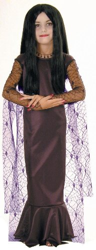 The Addams Family Morticia Halloween Costume - Child Size Small 4-6