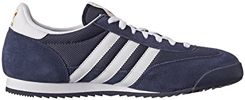 Adidas Originals Men's Dragon Fashion Sneaker,New Navy/White/Metallic Gold,11.5 D US