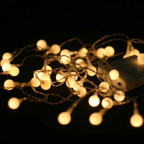 Warm White (Soft White) 40 Led Battery Powered Lights - Indoor Christmas Lights/lighting