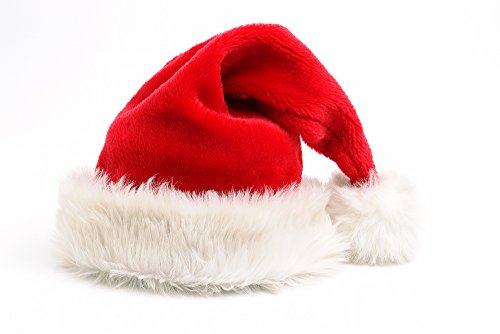 Deluxe Plush Red & White Santa Hat, Adult Medium (Pack of 3)