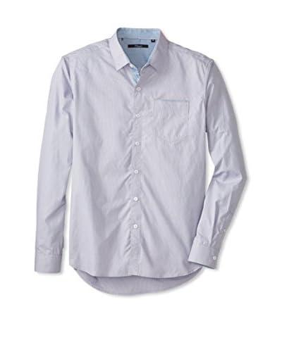 7 Diamonds Men's Limit To Love Micro Striped Long Sleeve Shirt