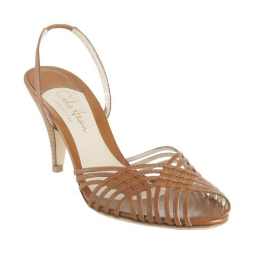 Cole Haan brown leather 'Amina Sling' sandals - Buy Cole Haan brown leather 'Amina Sling' sandals - Purchase Cole Haan brown leather 'Amina Sling' sandals (Cole Haan, Apparel, Departments, Shoes, Women's Shoes, Pumps, Low Heels)