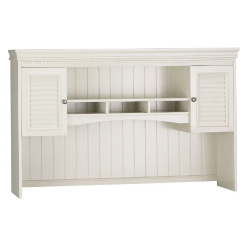 Bush Furniture Fairview Hutch For L-Shaped Computer Desk, Antique White