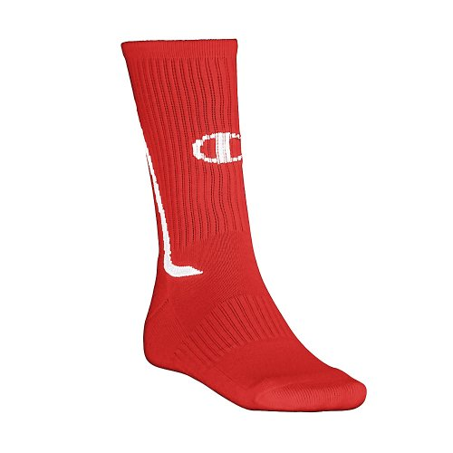 Champion All Sports Crew Sock SCKC, Scarlet/White, S-M