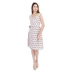 Beautiful Cotton Flower Print Multi Colour Dress