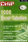 1000 Excel-Tabellen, CD-ROM Für MS Excel 97, 2000, XP, 2003. Vorlagen für Rechnungen, Kassenbücher ... Tabellen für Hobby, Sport und Spiel. Für Windows 98/ME/2000/XP