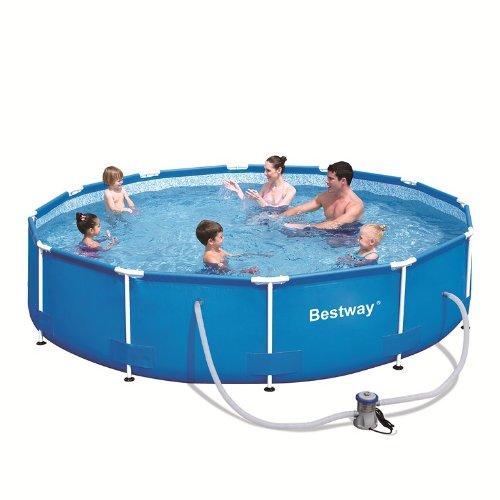 Unkerake piscine tubulaire ronde bestway 3 66 x 0 76m 56062gs for Piscine tubulaire bestway