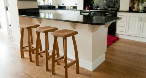 720mm High Oak Bar Stool