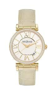 Saint Honore Women's 752012 3YRT Opera Gold PVD Mother-Of-Pearl Diamond Watch