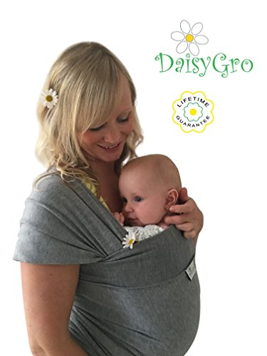 1-NEW-USA-RELEASE-Premium-Baby-Sling-Carrier-Baby-Wrap-Newborns-Infants-Toddlers-Create-a-Natural-Bond-Breastfeeding-Cover-Breathable-Soft-Cotton-Grey-Ideal-Gift