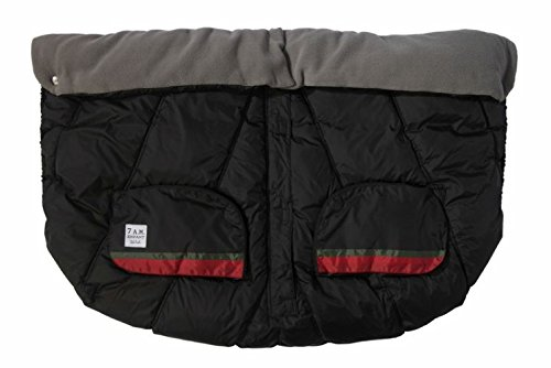 7 A.M. Enfant Duo Double Stroller Blanket- Black/Gray