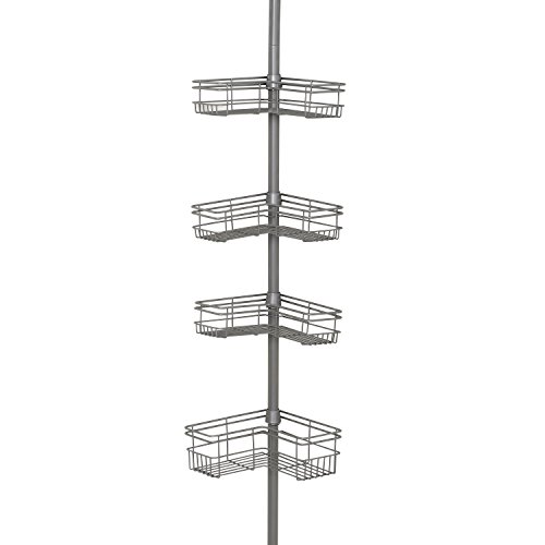 Zenna Home 2130NN, Tension Corner Pole Caddy, Satin Nickel (Can Convert compare prices)