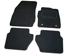 Sakura Car Mats in Black for Ford Fiesta MK7 (Fits 2009 to 2011 Models)