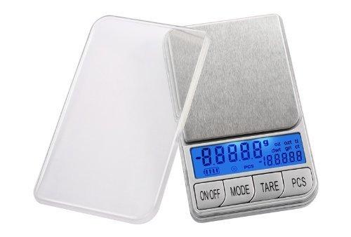 La balance digitale de poche a double affichage Smart Weigh DBL1KG 1000 par 0.1g avec écran LCD contre-jour et Fonction PCS