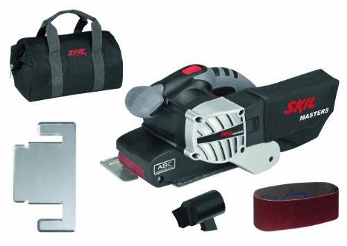 Skil-Masters-Bandschleifer-1220MA-650W-76-x-457-mm-4m-Kabel-Schleifrahmen-Tasche