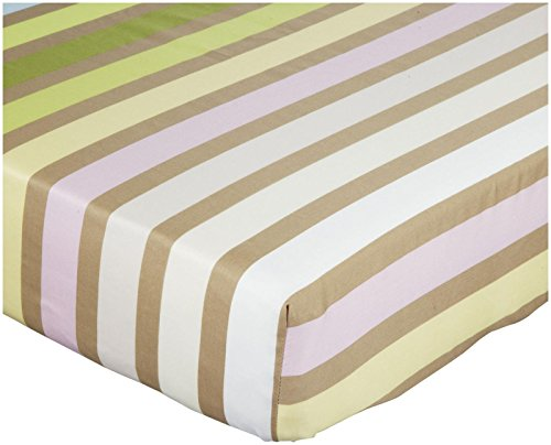 zicci bea Jerri Stripe Toddler Fitted Sheet- Pink/Multi