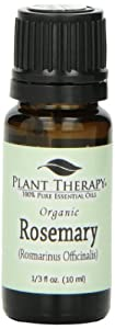 Organic Rosemary Essential Oil. 10 ml. 100% Pure, Undiluted, Therapeutic Grade.