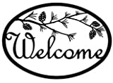 WEL-232 Pinecone Welcome Sign