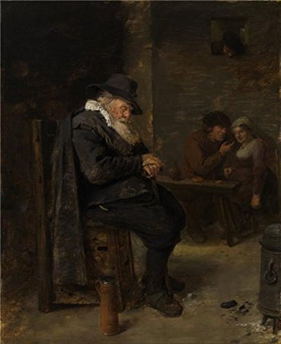 Oil Painting 'Old Man In The Pub By Adriaen Brouwer', 20 x 25 inch / 51 x 62 cm , on High Definition HD canvas prints is for Gifts And Garage, Home Theater And Living Room Decoration, diy (Led Stock Ticket compare prices)