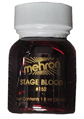 Mehron Stage Blood 152 (1oz, Bright Aterial)