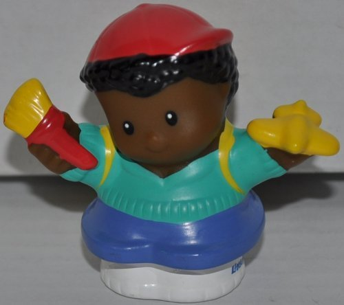Little People Michael (Plane & Brush in Hands) School Boy (2005) - Replacement Figure - Classic Fisher Price Collectible Figures - Loose Out Of Package (OOP) - Zoo Circus Ark Pet Castle - 1