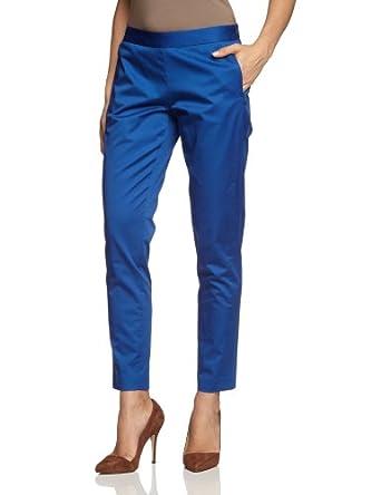 MEXX METROPOLITAN Damen Hose 6BGTP021, Gr. 42 (XL), Blau (498)