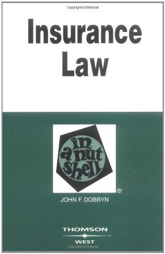 Insurance Law in a Nutshell (Nutshell Series)