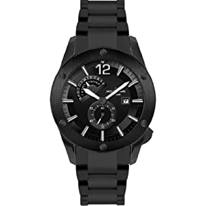 Jacques Lemans Liverpool Automatic 1-1765I 46mm Automatic Ion Plated Stainless Steel Case Black Steel Bracelet Mineral Men's Watch