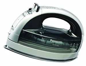 Panasonic NI-WL600 Cordless Multi-Directional Iron, Stainless Steel Soleplate, Silver/Black