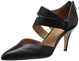 Corso Como Women\'s Carroll Dress Sandal, Black Silk Calf, 9 M US