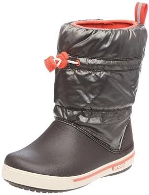 crocs CrocbandTM Iridescent Gust Boot Kids 12772-26L, Unisex - Kinder Schneestiefel, Braun (Espresso/Stucco 26L), EU 22/23