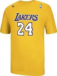 Kobe Bryant Los Angeles Lakers Adidas NBA Player Mens Gold T-Shirt by adidas