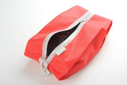 Schuhtasche / -beutel für Reisen aus einfachem Stoff, Farbe: rot, Mod. JE-00013-RED