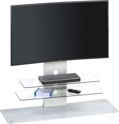 Maja 16439746TV Stand Folio 9746, 1,200x Shaker x 400mm, Metal and Glass White