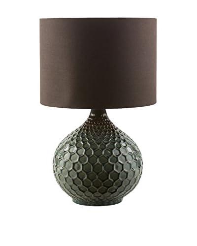 Surya Blakely Table Lamp, Dark Green