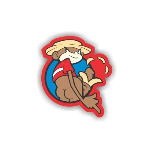 """Amazon.com: (2x) 7"""" Johnny Chimpo SUPER TROOPERS Big Stickers, Decals"""