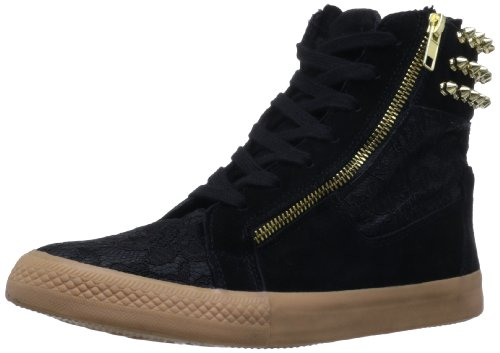 Betsey Johnson Women'S Nxtstep Fashion Sneaker,Black Suede,8 M Us front-1063780