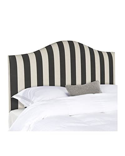 Safavieh Connie Stripe Headboard, Black/White, Full