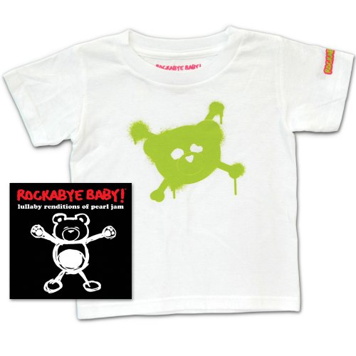 Rockabye Baby Lullaby Renditions of Pearl Jam Rockabye Baby 100 Organic Cotton Toddler T Shirt White Green
