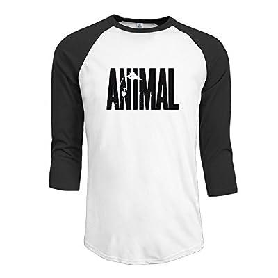 Men Animal Letter Print Stringer Bodybuilding Men Baseball Jersey 3/4 Sleeve T Shirts