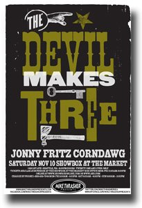 The Devil Makes Three Poster - 11 x 17 Concert Promo on the