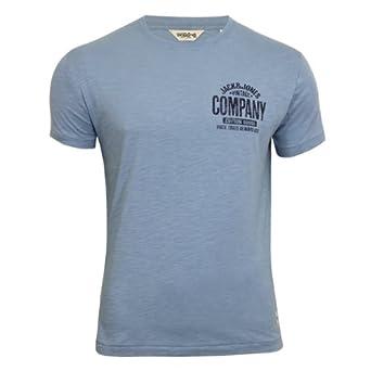 Jack & Jones T-Shirt Vintage Company Tee Slim Fit faded denim Gr.L