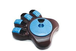 Aikiou Interactive Dog Bowl, Brown/Blue