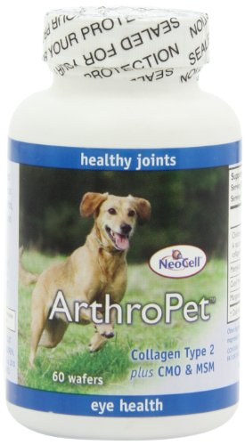 Neocell Arthropet Collagen Type 2 PLUS CMO & MSM,  60 Wafers (Collagen Organic compare prices)