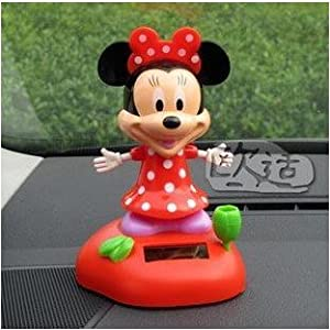 Mickey Mouse Minnie Flip Flap Solar Powered Swing Toy