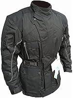 Australian Bikers Gear Black Motorcycle Waterproof Armoured Thermal Motorcycle Jacket