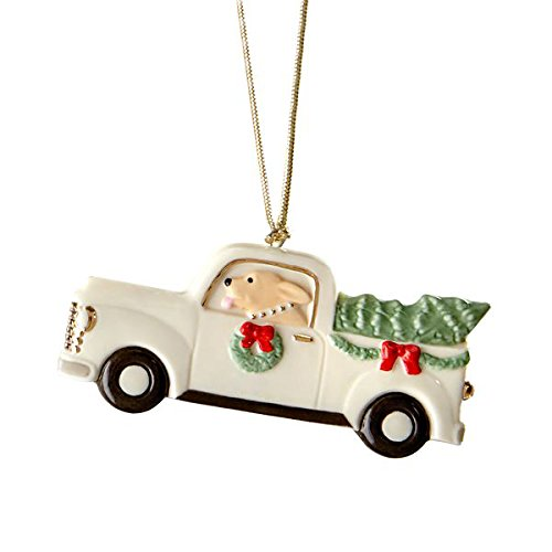 Lenox Dog in Truck Christmas Holiday Tree