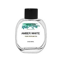 Amber White Perfume Oil - Premium Quality 100% Pure Perfume, Splash-On (60ML GLASS BOTTLE)